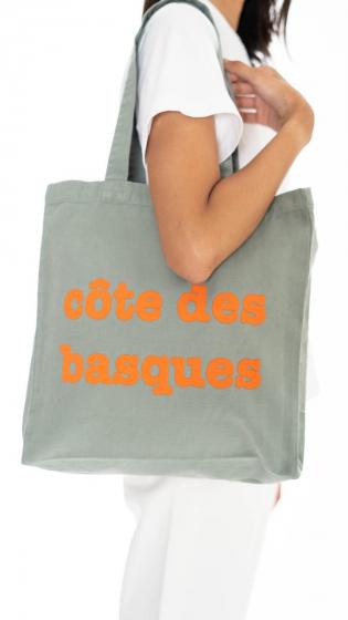 Tote bag Côte des Basques VERT
