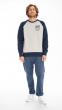 Sweatshirt bicolore Surf Club GRIS CHINÉ/MARINE