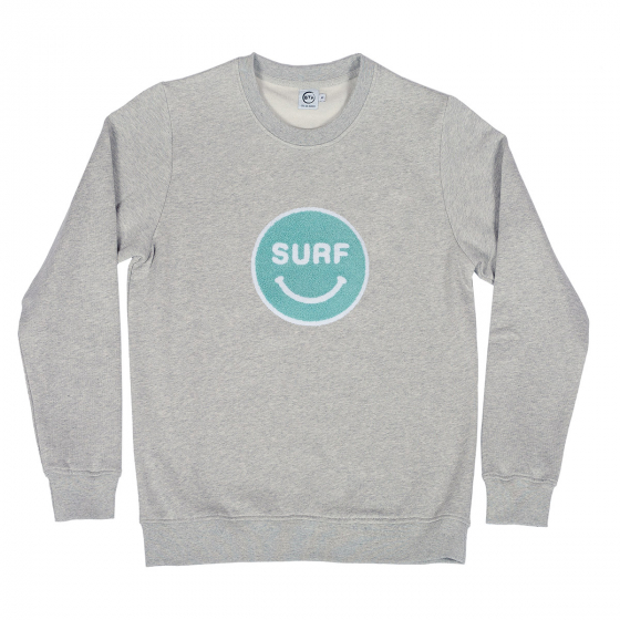 Sweat Happy Surf gris femme