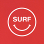 Tee Happy Surf rouge homme