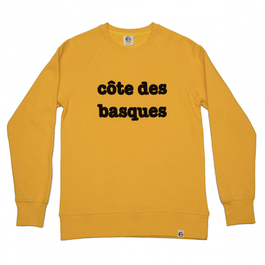 SWEAT CDB JAUNE HOMME