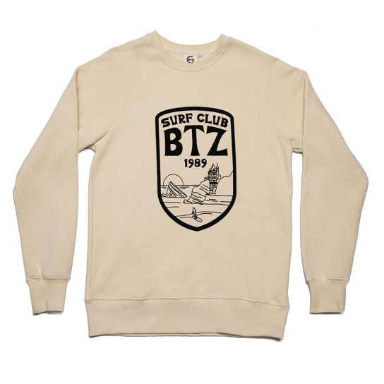 SWEAT SURFCLUB 2 BEIGE HOMME