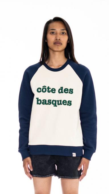 Sweatshirt bicolore Côte des Basques  ÉCRU/MARINE