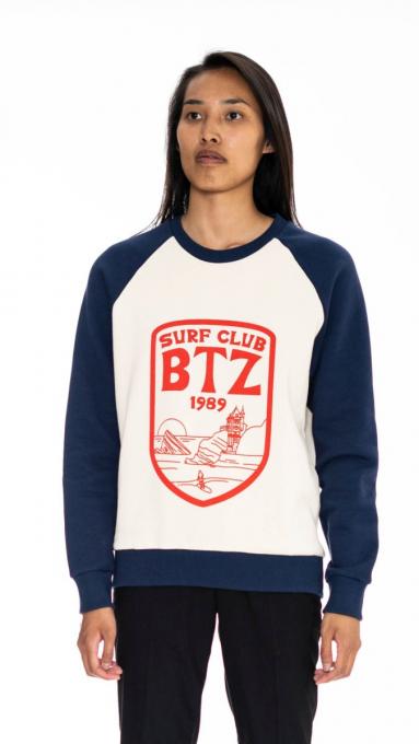 Sweatshirt bicolore Surf Club ÉCRU/MARINE